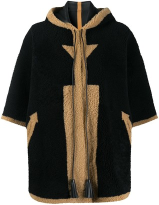 Blancha Shearling Cape Coat