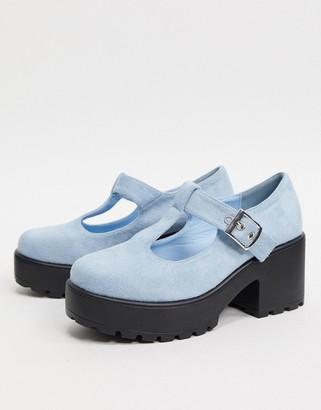 Koi Footwear Sai vegan mary jane heeled shoe in blue