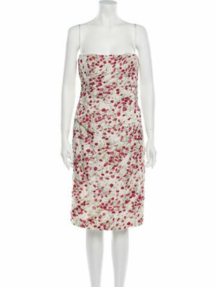 Dolce & Gabbana Floral Print Knee-Length Dress White