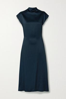 GAUCHERE Rozinne Satin-crepe Midi Dress - Midnight blue