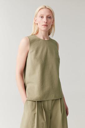 Cos Cotton Seersucker Vest Top