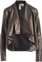 Mimichica Black & Gold Shawl Collar Jacket