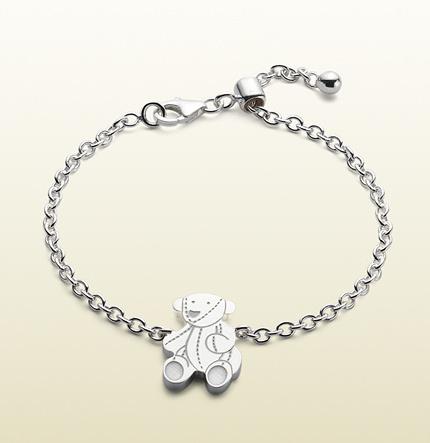 Gucci Bracelet With Teddy Bear Motif