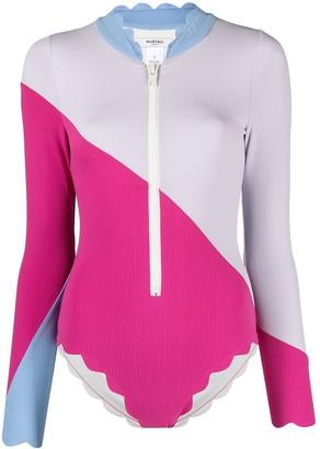 Marysia Swim Colour-Block Swimsuit