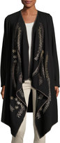 XCVI Noemi Embroidered Cardigan, Black