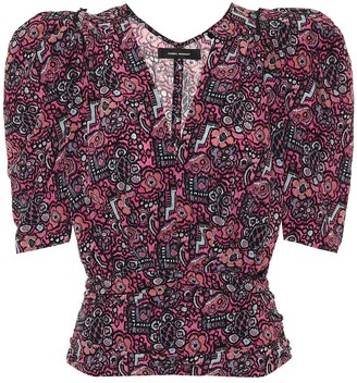 Isabel Marant Exclusive to Mytheresa a Rincky stretch-silk top