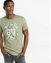 Express nocturnal floral print graphic t-shirt