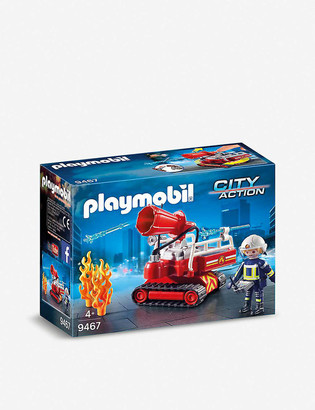 Playmobil City Action water cannon and figure playset