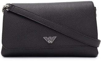 Emporio Armani Grained Faux-Leather Crossbody