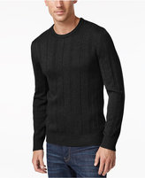John Ashford Men's Big and Tall Crew-Neck Striped-Texture Sweater, Only At Macy's