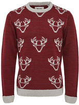 Only And Sons Reindeer Crew Neck Top