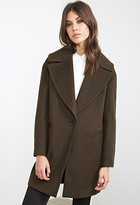 Forever 21 FOREVER 21+ Topstitched Wool-Blend Overcoat