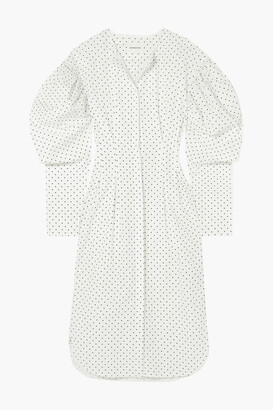 Georgia Alice Desert Polka-dot Cotton-poplin Midi Dress