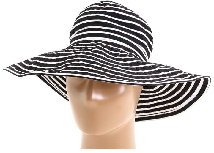 San Diego Hat Company Ribbon Braid Hat Large Brim Stripe Traditional Hats