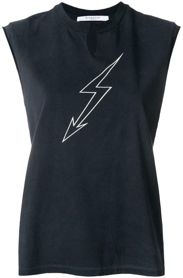 Givenchy lightning print sleeveless top