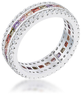 Kate Bissett Purple Cubic Zirconia & Silvertone Classic Band Ring