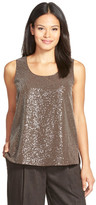 Lafayette 148 New York Cleo Sequin Silk Georgette Blouse