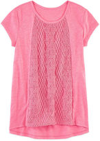 Arizona Short Sleeve Crochet Top - Girls 7-16 and Plus