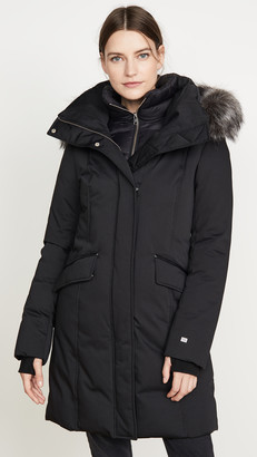 Soia & Kyo Emele Jacket with Faux Fur Trim