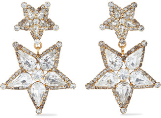 Elizabeth Cole Rigby 24-karat Gold-plated Swarovski Crystal Earrings
