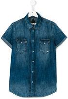 John Galliano shortsleeved denim shirt - kids - Cotton - 14 yrs