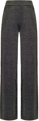 Pinko Metallic Threading Straight-Leg Trousers