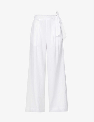 Jets Jetset wide-leg high-rise linen-blend trousers