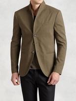 John Varvatos Linen Cotton Shawl Collar Jacket