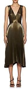 A.L.C. Women's Marisol Pleated Lamé Dress - Gold