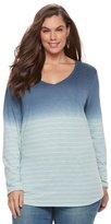 SONOMA Goods for Life Plus Size SONOMA Goods for LifeTM Essential V-Neck Tee