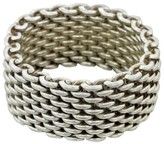 Tiffany & Co. 925 Sterling Silver Mesh Somerset Ring Size 8