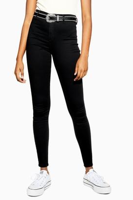 Topshop TALL Black Belt Loop Joni Skinny Jeans