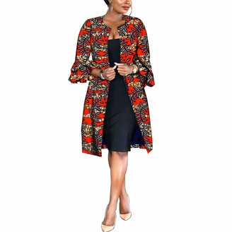 Realwax African Women Coat Ankara Print Long Jacket Tops Wax Dashiki Clothes 662 2X