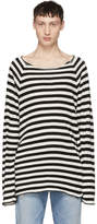 Undercover Black and White Striped Knit Sweater