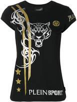 Plein Sport tiger print T-shirt
