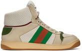 Gucci White Screener High-Top Sneakers
