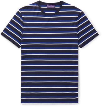 Ralph Lauren Purple Label Striped Cotton-Jersey T-Shirt