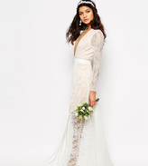 Fame And Partners Bridal Laced Heaven Maxi Dress With Split