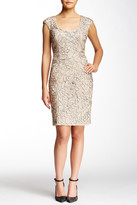Sue Wong Embroidered Cap Sleeve Dress
