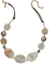 INC International Concepts Gold-Tone Mixed-Stone Necklace, Only at Macy's