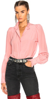 Isabel Marant Sloan Blouse in Pink.