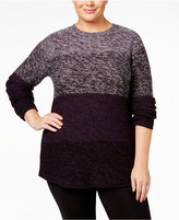 Style&Co. Style & Co. Plus Size Ombré Sweater, Only at Macy's