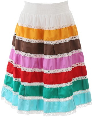Prada Striped Flared Skirt