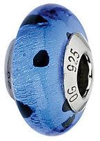 Murano Prerogatives Blue/Black Dots Italian Glass Bead