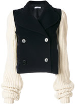 J.W.Anderson chunky knit sleeve peacoat