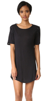 David Lerner Lace Up T-Shirt Dress