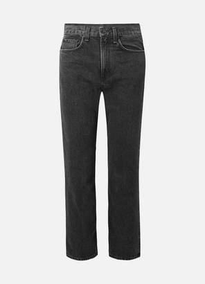 Rag & Bone Cropped High-rise Straight-leg Jeans - Black