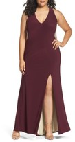 Xscape Evenings Plus Size Women's Embellished Back Jersey Gown