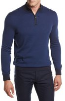 Ermenegildo Zegna Quarter Herringbone Zip Sweater