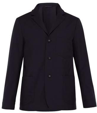Officine Generale Aris Single Breasted Fresco Wool Jacket - Mens - Navy